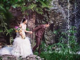 热带雨林森系婚纱照