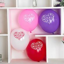韩版圆形创意求婚情侣气球结婚用品婚房布置 12寸加厚加大