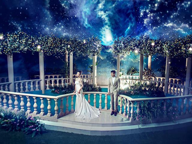 欧式宫殿婚纱照