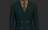 时尚复古绿男士西装量身定制