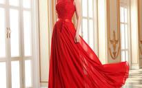 新款秋冬季新娘结婚礼服红色长款敬酒服晚礼服MF500