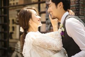 时尚建筑主题系列婚纱照