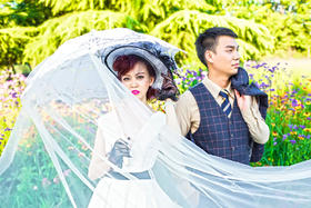 金匠格清新花海婚纱照客片分享—祝福黄亮&何箐