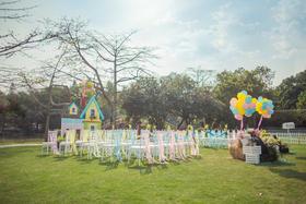 Rainbow婚礼气球布置