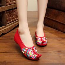新花型飞歌绣花鞋民族风婚鞋新娘鞋老北京女鞋布鞋国风汉服鞋