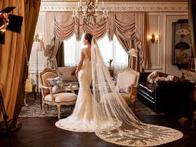 鱼尾包肩女王系列婚纱
