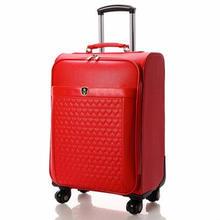 皮箱拉杆箱女旅行箱万向轮行李箱红色结婚箱