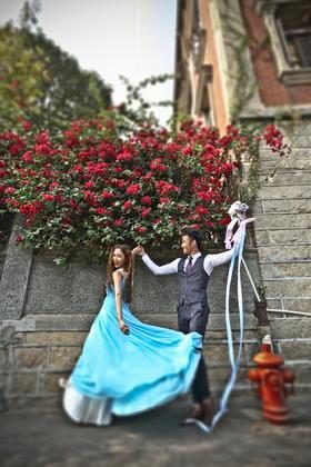 旅拍街景婚纱照