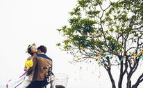 小清新婚纱照——一棵树