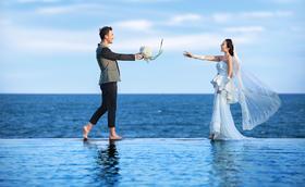 【卡布奇诺·三亚】5服5造精修60张 五星蜜月 海景酒店+接机