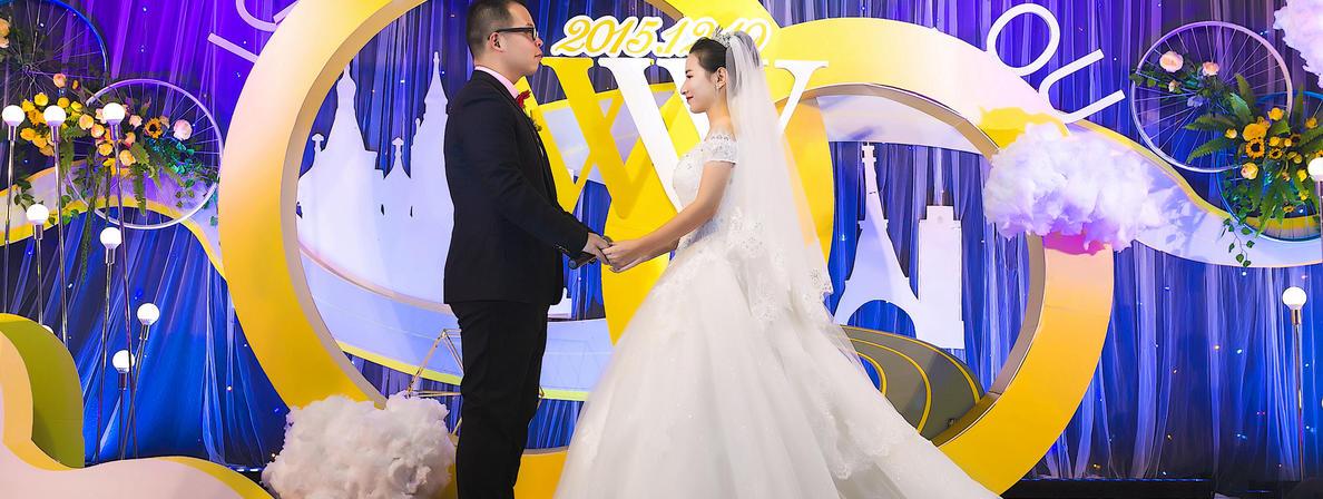 """(今零双机摄影)两位亲爱的小""""逗比""""的婚纱+婚礼"""