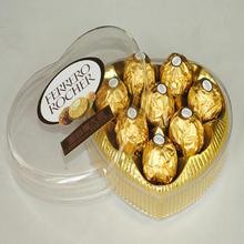 定制 情人节礼物意大利进口费列罗巧克力6粒装8颗心形礼盒T3