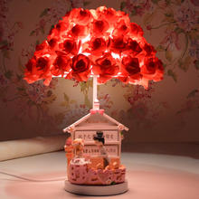 台灯卧室床头结婚礼物创意时尚高档红色新房婚房实用婚庆装饰温馨