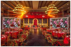 热情巴洛克——红色复古婚礼布置
