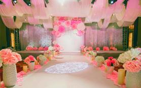 【宝隆婚礼】最新款的道具加上满分的花艺设计灰粉色