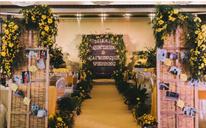 黄色调小清新婚礼风格