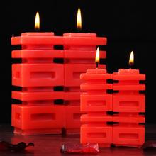【包邮】创意双喜字红蜡烛 婚房装饰婚礼回礼结婚装饰蜡烛