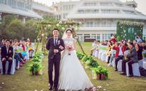 户外草坪清新婚礼