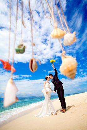 维多利亚环球旅拍《三亚站清新海景婚纱照》祝福新人:聂利