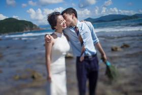 【海滩婚纱照】聆听幸福。。。