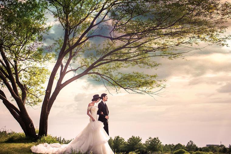 【白纱糖】--森系婚纱照   罗湖畔