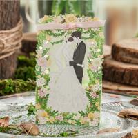 【相拥】套系绿色草坪结婚礼宴喜糖盒伴手礼盒欧式镂空森系糖盒