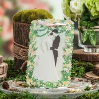 【相拥】套系绿色草坪结婚礼喜帖邀请柬/卡/贴定制欧式森系清新