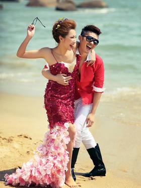 【兔子洞】热情海滩婚纱照