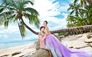 【兔子洞】椰林海岸唯美婚纱照