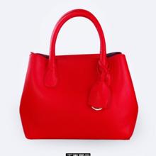 【红色礼遇】大容量荔枝纹手提包单肩红色新娘包
