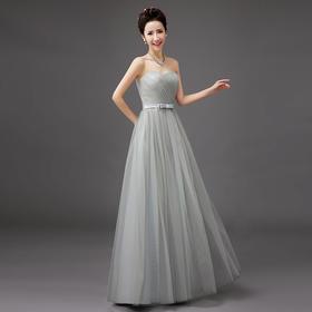 长款结婚伴娘服姐妹裙演出小礼服伴娘礼服  晚礼