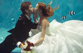 【水下婚纱照】牵着你的手
