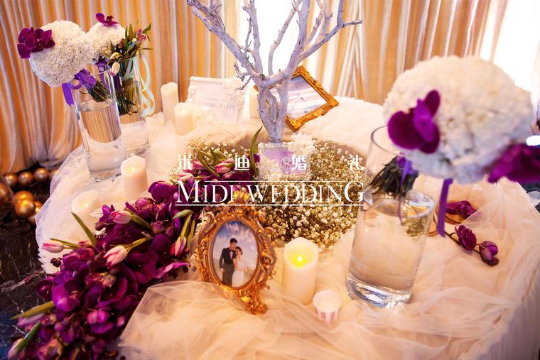 爱的光环 婚礼鲜花布置