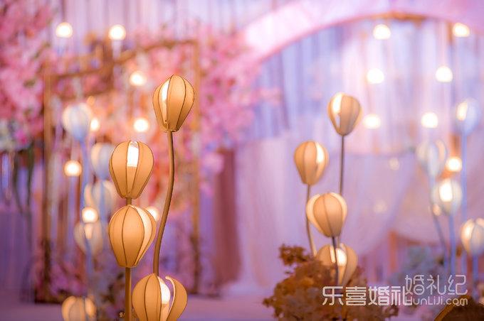 樱花粉色梦花园欧式时尚婚礼