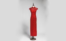 情人节特享·蘭墨手工刺绣立领双扣中式旗袍