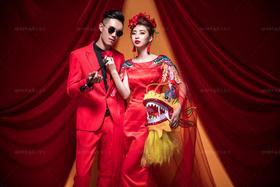 【爱上女王】中式复古婚纱客照欣赏
