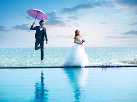 海边恋人主题婚纱摄影