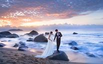 全球旅拍 幸福像花儿一样 海景婚纱照