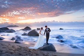 全球旅拍|幸福像花儿一样 海景婚纱照