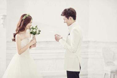 韩式素雅婚纱照