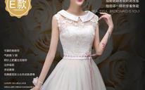 伴娘服新款夏秋季姐妹团连衣裙 短款韩版婚纱礼服