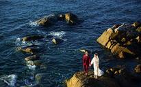 海景婚纱照 #波西米亚旅拍婚纱摄影# 情人湾----恋