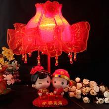 婚房床头灯结婚礼物婚礼必品新房浪漫台灯摆件新娘陪嫁红色长明灯