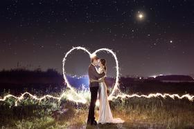 夜景婚纱摄影