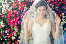 清新韩风+花海片场+简约时尚多元风格婚纱照