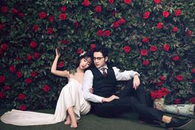 「玫瑰星座」玫瑰花园婚纱照系列