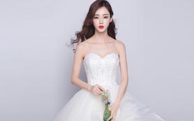 萝纱礼服|纯洁的爱情抹胸款精致婚纱