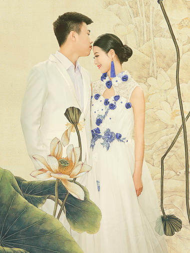 古韵柔情婚纱照