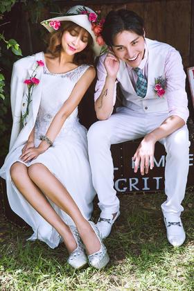 #波西米亚旅拍婚纱摄影#  爱的约定 森系婚纱照