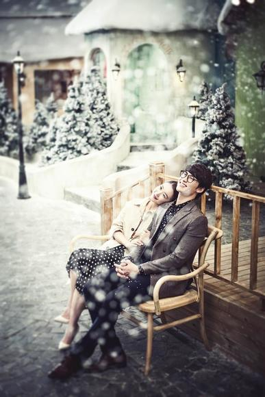 雪景婚纱照